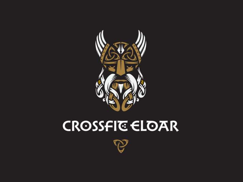 Crossfit Eldar adobe illustrator illustration graphic design logo design viking logo scandinavian