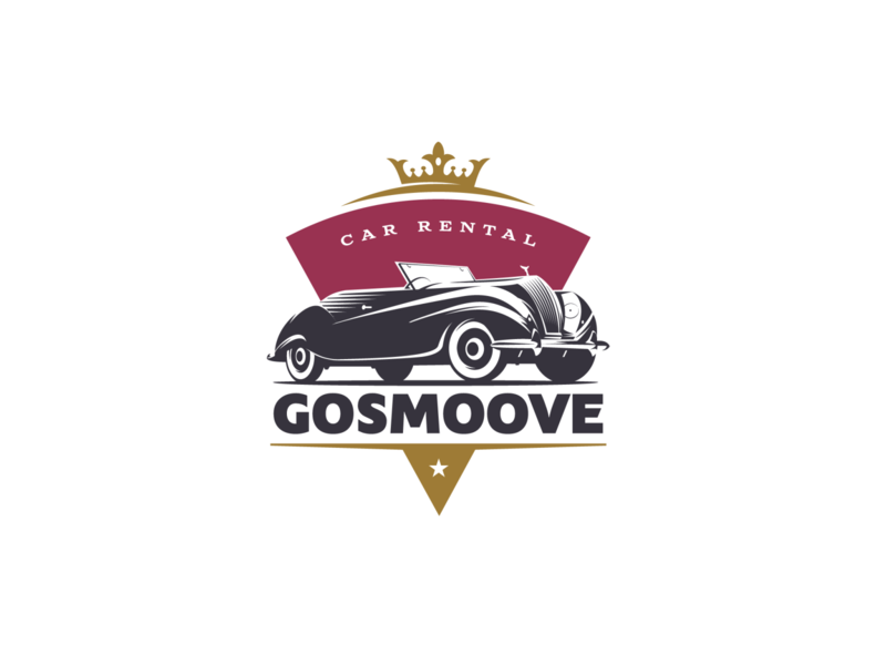 GoSmoove automobile auto cars graphic design vector adobe illustrator illustration logo design retro logo for sale retro design 1938