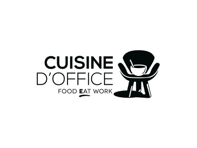 Cuisine d'Office food at work icon vector illustration typography logo branding