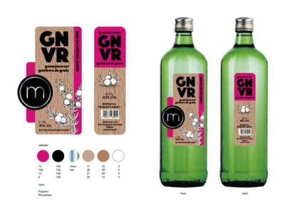 Genever Label for Distillery Massy from Houthalen, Belgium