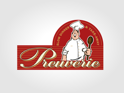 Restaurant Preuverie logo vector illustration typography logo branding