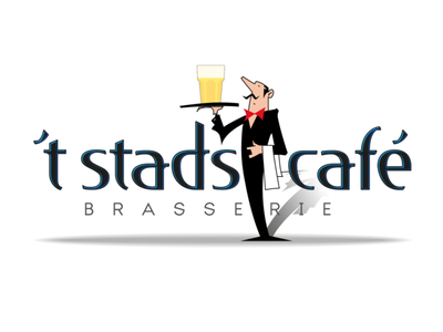 Brasserie 't Stadscafé logo illustration logo vector typography branding