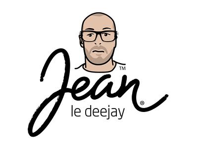 Jean le deejay logo logo vector illustration typography branding