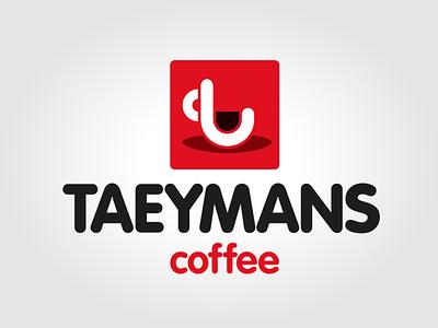 Logo Taeymans Coffee from Belgium icon logo vector illustration typography branding
