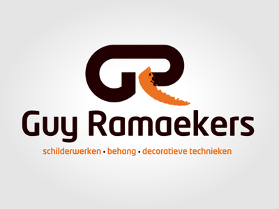 Logo Guy Ramaekers - housepainter icon vector logo illustration typography branding