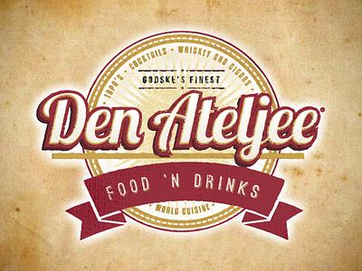 Den Ateljee logo icon vector illustration typography logo branding