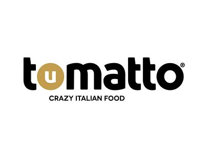 Tomatto Italian Restaurant icon vector illustration typography logo branding
