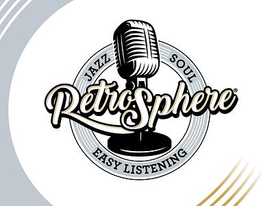 RetroSphere logo icon vector illustration logo typography branding