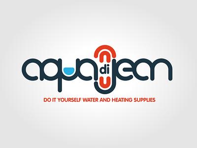 Aqua di Jean logo icon vector illustration typography logo branding