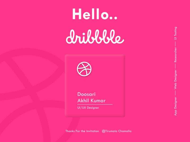 Hello Dribble app design minimal ux web app ui