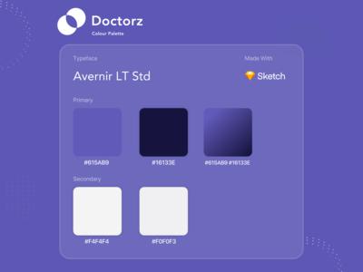 Doctorz - Colour Pallete typogaphy colourscheme colour palette app design ui minimal design