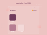 Meditation App Colour Palette yoga app colour palette logo branding app ui app design minimal design