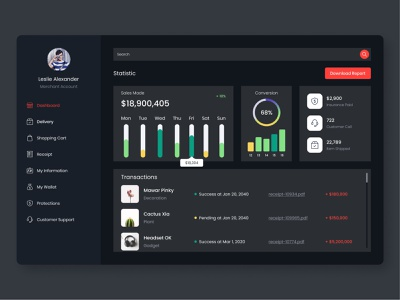 Dashboard Dark Mode ui  ux dark mode dark ui web dashboard web design ui design ui dashboard design dashboard ui dashboard