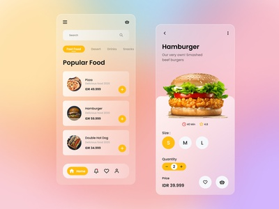 Food App Exploration food app design design modern minimalist glassmorphism drink ui app design food app food user interface userinterface uiux uidesign ui