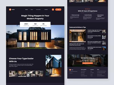 #Exploration - Property Landing Page furniture real estate design web webdesign landing page property design modern minimalist user interface userinterface uiux uidesign ui