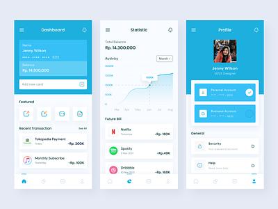 Digital Wallet App appdesign wallet statistic mobiledesign e-wallet ewallet digitalwallet finance financeapp minimalist user interface userinterface uiux uidesign ui