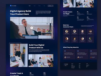 Digital Agency - Landing Page product digitalagency website agency landingpage modern minimalist user interface userinterface uidesign ui