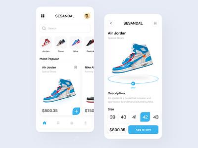 Shoes App appdesign shoesapp shoes minimalist user interface userinterface uidesign ui