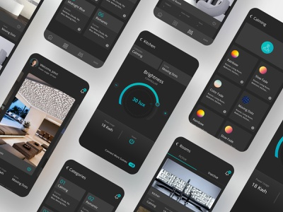 Volatiles onboarding ui onboarding profile page search ogilvy branding agency booking app branding design user interface design uiux iota iot internet of things smart home user interface user experience