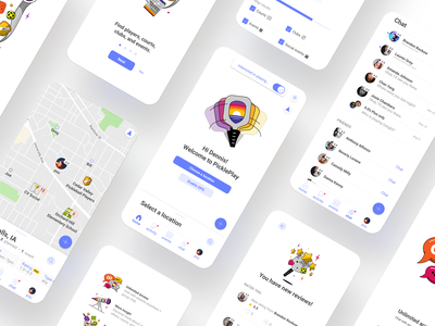 PicklePlay User Interface settings landing design app design art game ui sports chat onboarding typography ux ui vector user interface design uiux user interface user experience illustration design