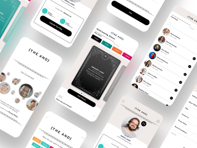 {TheAND} black user interface user interface design uiux branding user experience ui vector design illustration leaderboard gamification game cards