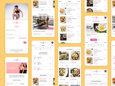 User Interface : World #1 mums fitness mobile application mummy mum women receipe food healthcare health fitness diet