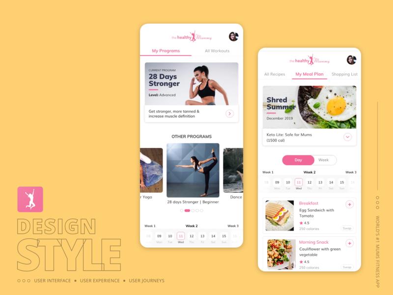 Design Concept : World #1 mums fitness mobile application