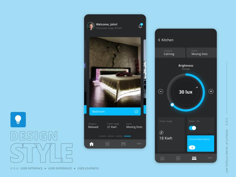 Design Concept : Smart Control IOT Mobile Application
