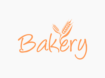 Bakery combination mark simple clean smart type wordmark logo creative modern logo logo design bakery logo