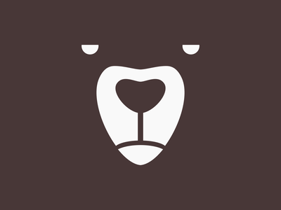 Bear Face bear illustration illustrator design vector bold logo icon minimalist logo flat logo modern logo logo design