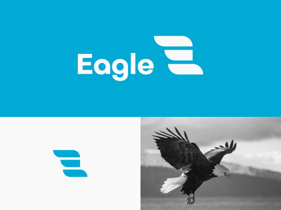 Eagle - Logo Icon Concept type letter e combination mark logomark vector delivery agency eagle minimalistic minimal illustration concept bold logo illustrator creative minimalist logo icon flat logo modern logo logo design