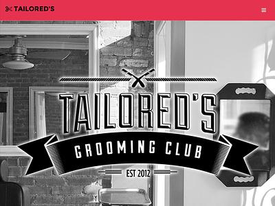 Tailored's Grooming Club washington dc bootstrap responsive web design branding logo barber barbershop mens grooming tailoreds