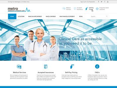Metro Immediate & Primary Care (canned) web design dc urgent care primary care metro