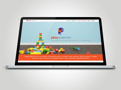 PlayScience - Website ui ux technology website geometric development children learning innovation play playscience
