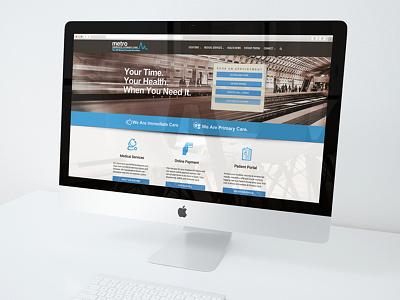 Metro Immediate & Primary Care (MetroIPC) ux web design dc washington dc transit hospital doctor medical metro metroipc