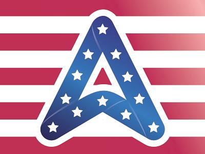 Happy Veteran's Day american stripes stars logo veterans day