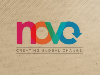NoVo  identity typography multicolor change global branding logo