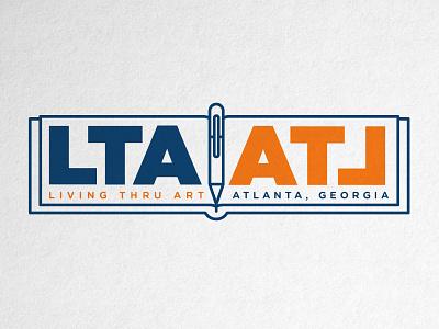 Living Thru Art, ATL Logo vector typography design illustration branding writing poetry georgia atl atlanta logo