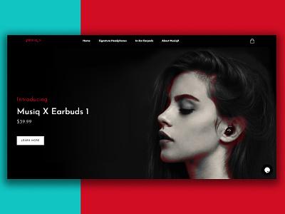 Musiqx web design websites colorful cards ui ui website design website music cards colored shadow cheerful design branding
