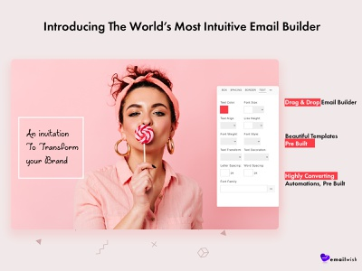 Emailwish dropshipping store dropshipping dropship ecommerce shopify email marketing homepage colored shadow cheerful design branding hello dribbble hello dribble hello world hello hellodribbble