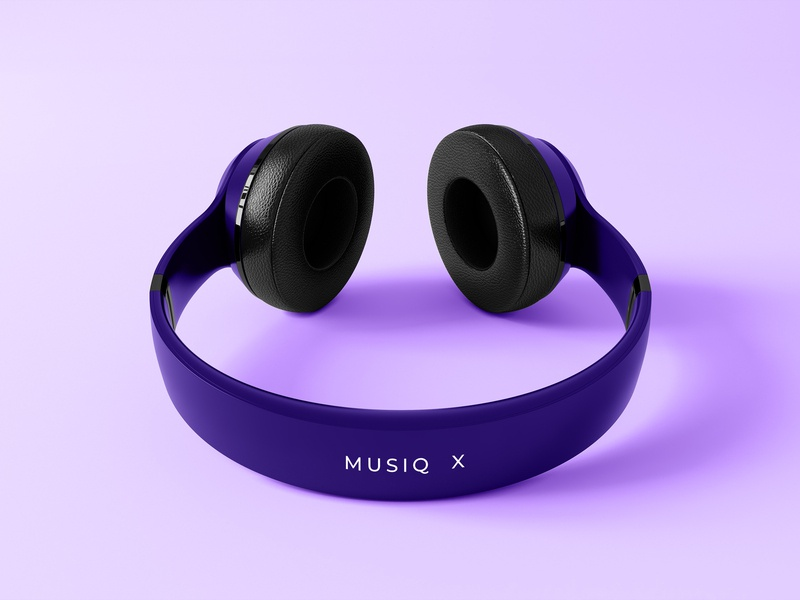 Hello Dribbble Musiq X Headphones mock up hello dribbble first shots headphones music design illustration branding