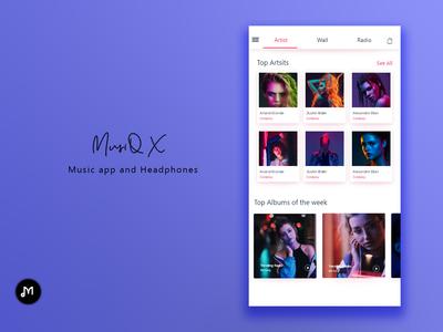 MusiQ X Artist design