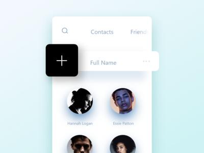 Contacts app Design