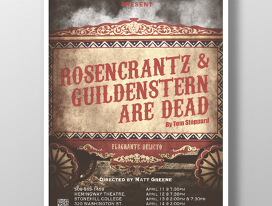 Rosencrantz & Guildenstern Are Dead Poster Design