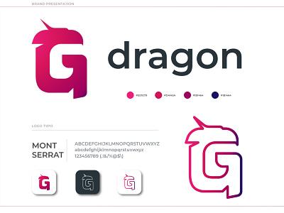 G - DRAGON gradient designs internet network dragon graphicdesign logos art 2020 logo design graphic branding design logo brand identity brand