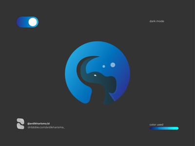 ELEPHANT   MODE DARK elephant dark logodesigner illustrator gradient graphicdesign logos brand art 2020 design logo design graphic logo branding