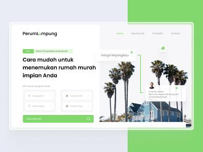 PerumLampung Landing Page UX-UI Design green form home branding graphicdesign design lampung 2021 realestate landingpage uxdesign ui  ux ui design uiux ui