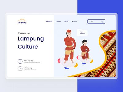 Lampung Culture   Landing Page UI Design uxdesigner uidesigner lampung uidesigns ui  ux uiux uidesign design
