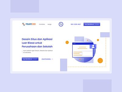 Powercode - Landing Page header uidesigns 2021 branding graphic design webdesign uidesign uiux landingpage