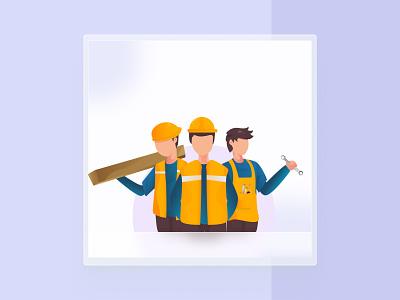 Illusration   Labour Day brand illustration vector artwork art may 2021 buruh hariburuh labour day labourday labour illustrator illusration ui design ui design
